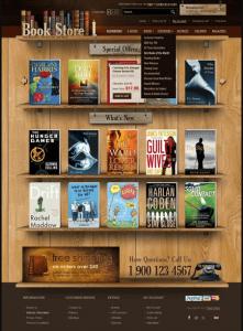 Thiết kế website bán sách cần chú ý giao diện trang chủ