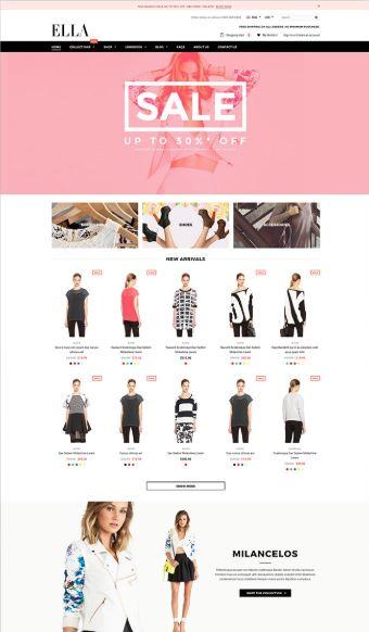 Ella - mẫu website bán hàng chuyên nghiệp