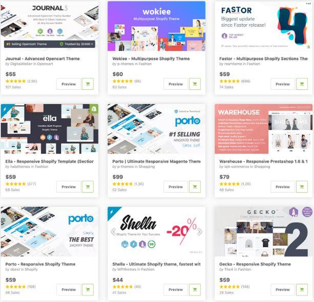 Top 10 mẫu website bán hàng.