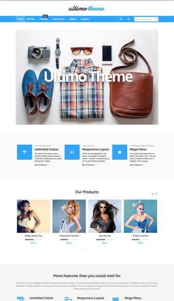 Ultimo - mẫu website bán hàng hiện đại - chuẩn SEO