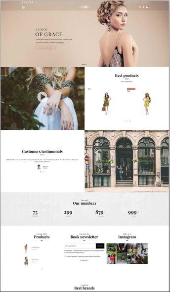 Warehouse - mẫu website bán hàng chỉnh chu