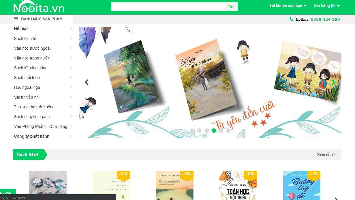 Nobita.vn - website bán sách online và truyện