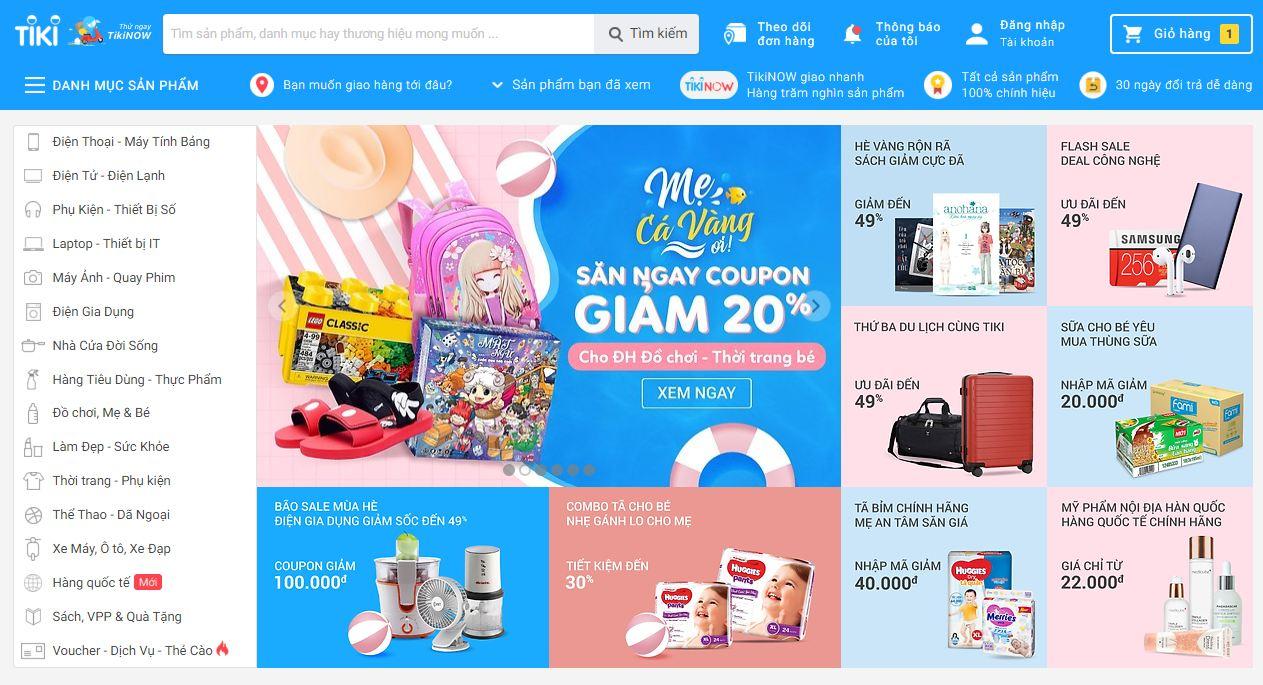 Tiki - website bán sách online hàng đầu việt nam