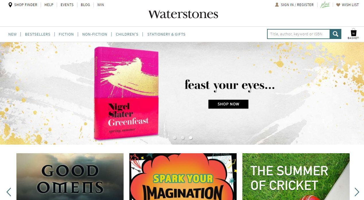 Website bán sách Waterstones