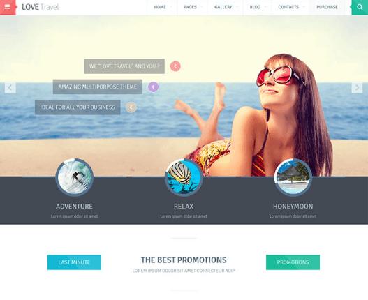 Giao diện website du lịch nổi bật.