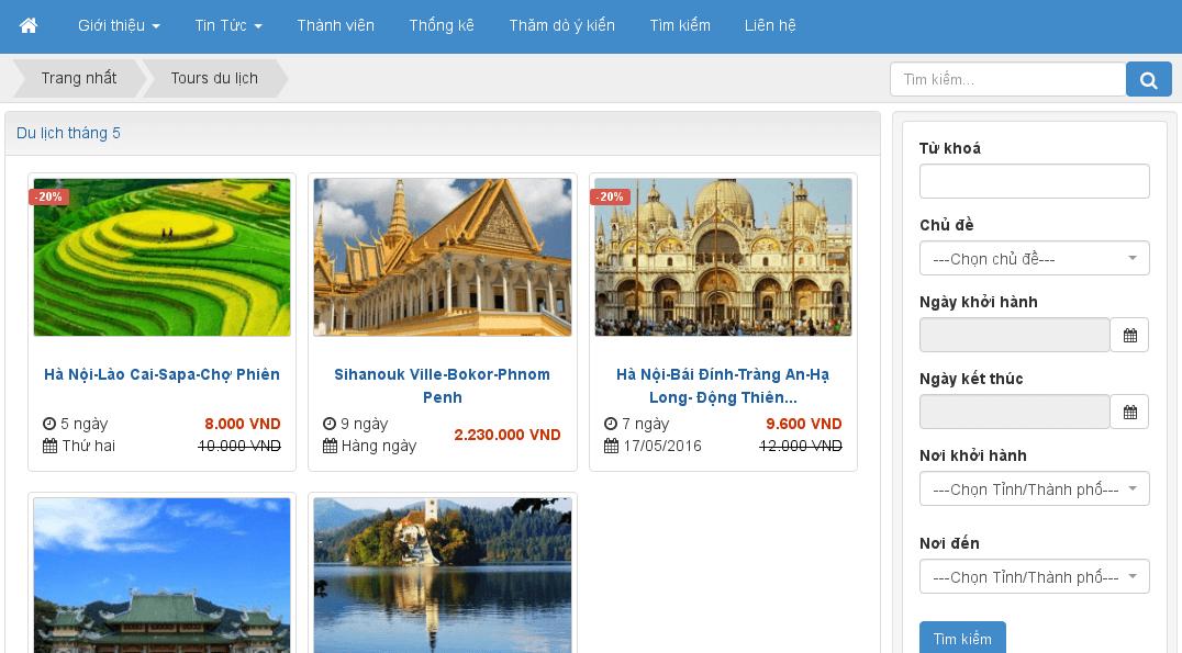 Module thông tin du lịch