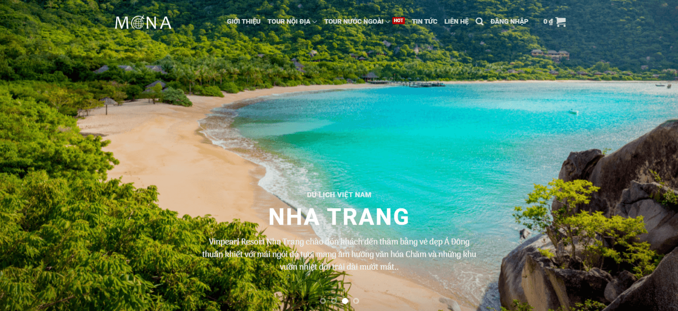 Trang chủ website du lịch