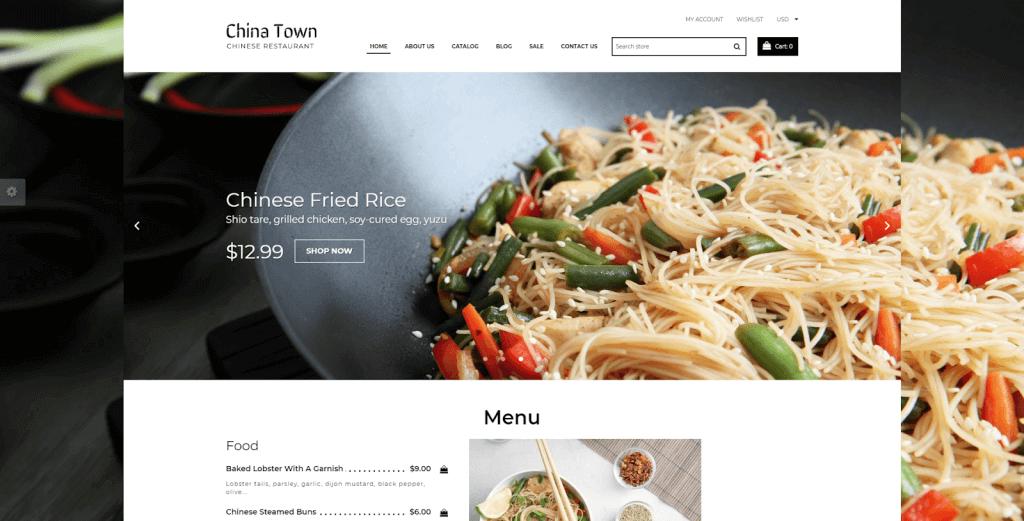 mẫu website nhà hàng đẹp