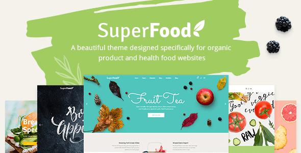 Mẫu website super food với gam màu sáng, tươi mới