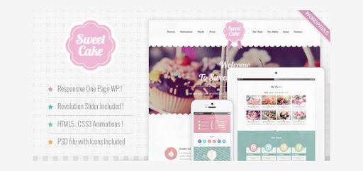 mẫu website nhà hàng sweet cake