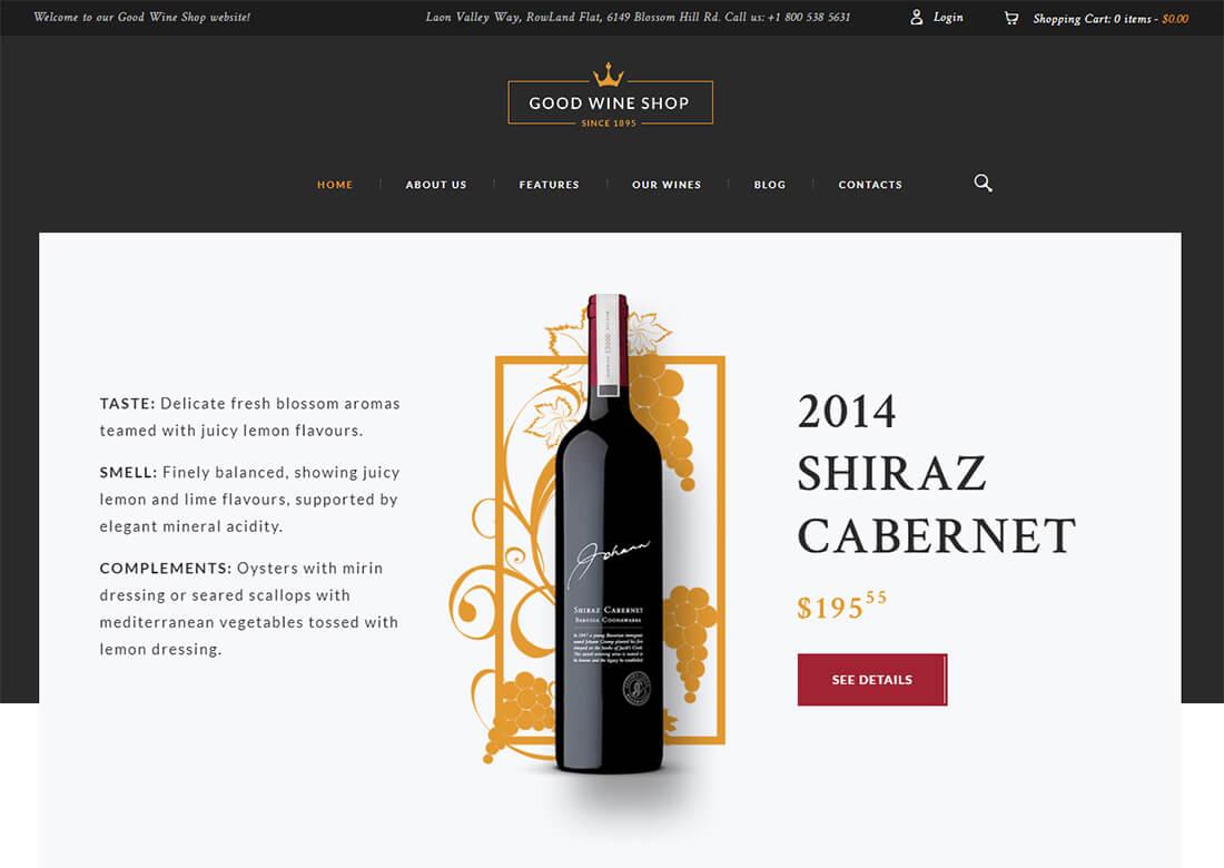 website Vino