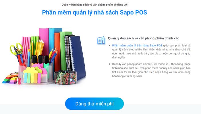 Phần mềm quản lý cửa hàng sách, văn phòng phẩm - SAPO